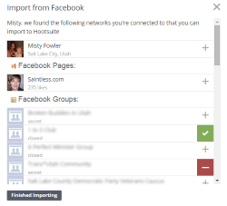 Hootsuite - Add Facebook Pages and Groups