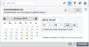 Hootsuite Set Date and Time for Scheduled Post